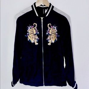 H&M Bomber Jacket with Tiger Embroidery